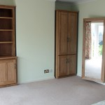 Handmade oak bedroom cabinets