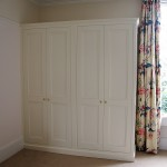 A painted built-in wardrobe made for a Georgean house in Bath