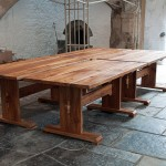 Elm refectory tables for the Abbots Kitchen at Glastonbury Abbey