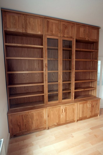 Oak library shelves