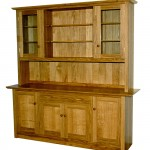 Dresser in solid Oak with handmade oak knobs and handles. The timber selected for the door panels and drawer front has some very fine figure