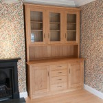 A very simple but substantial solid oak dresser, looks great with the William Morris wallpaper!