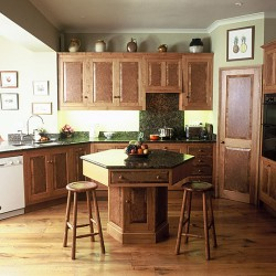 Burr oak kitchen