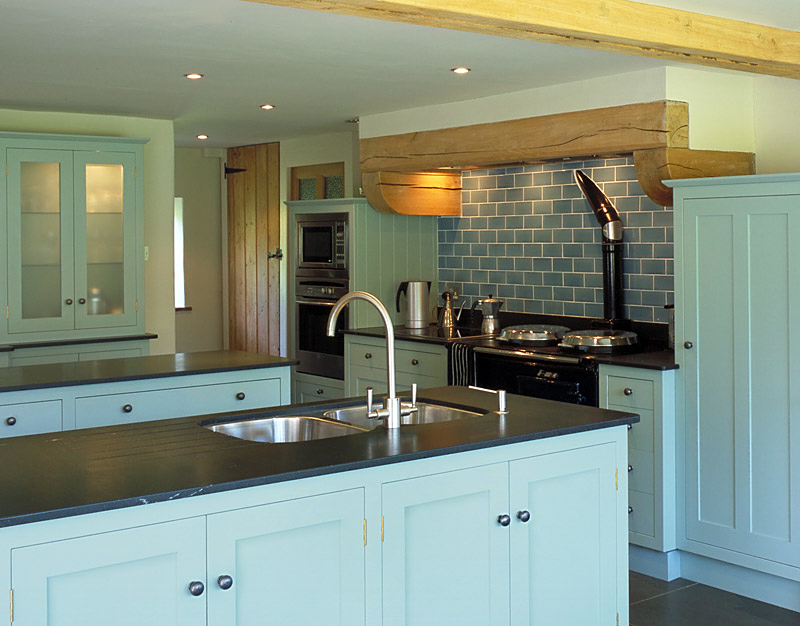 duck egg blue kitchen cabinets