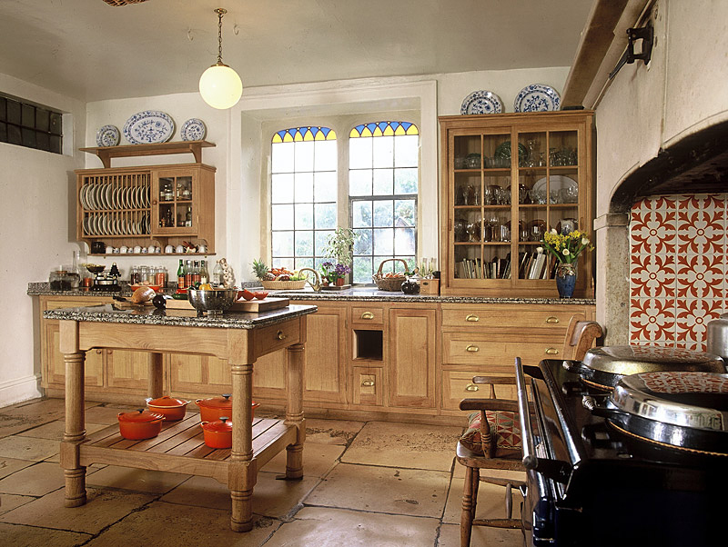 Limed oak kitchen