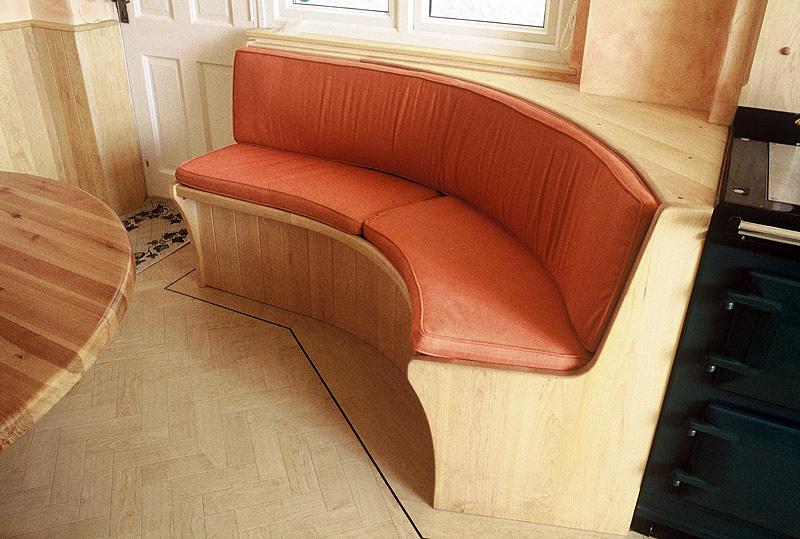 Maple corner seat