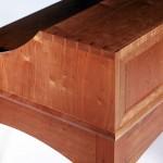 Shaker style cherry desk detail