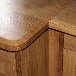 Oak desk-top detail
