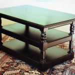 Ebonised side table