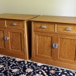 Brown oak cabinets