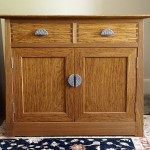 Brown oak cabinet