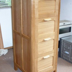 Arts and crafts style filing cabinet