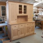 Dresser in solid French Oak with hand turned oak knobs.