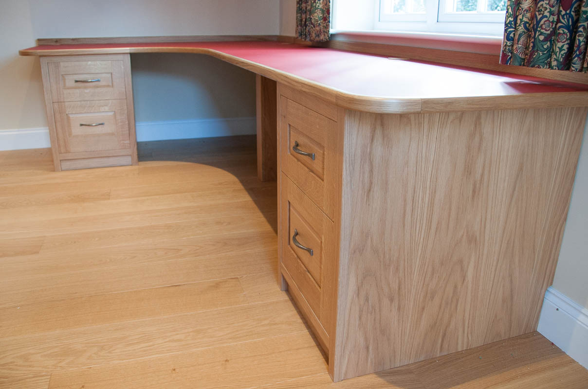 Built in oak desk and bookcases david armstrong furniture Built in desk