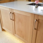 Wrap around worktops in Lagoon silestone