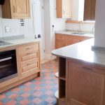 Oak Kitchen with Diamond Motifs