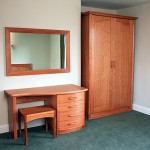 Wardrobes and dressing table in American Cherry