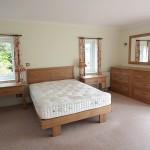 Handmade oak bed