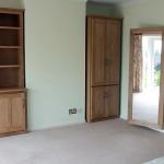 Handmade oak bedroom cabinets