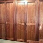 Built-in walnut wardobe
