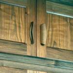 Built-in walnut wardobes