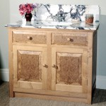 Bathroom cabinet in burr oak