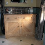 Limed oak bathroom suite