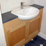 Maple and Corian vanity unit