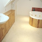 Sweet chestnut bathroom suite