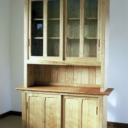 Dresser in Sweet Chestnut with sliding doors, the finish is linseed oil