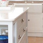 Pale painted kitchen