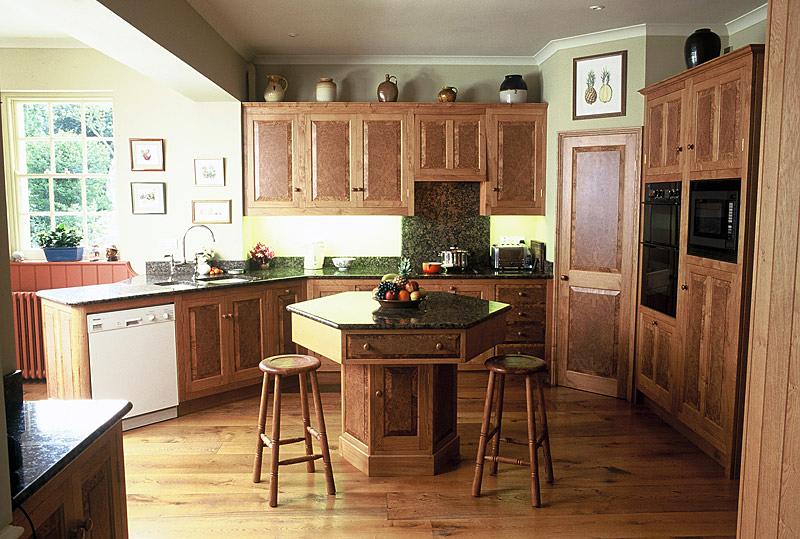Burr oak kitchen