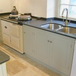 Pale green kitchen