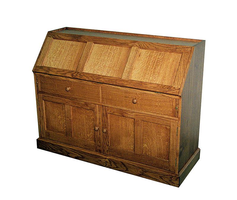 Handmade oak bureau
