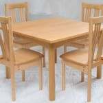 Kitchen table and chairs in White Beech with a linseed oil finish