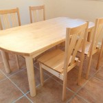 Table and chairs in Canadian Maple