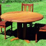 Round table in Elm with Yew chairs