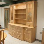 Glazed dresser in Oak with handmade handles