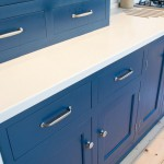 Blue lacquered kitchen