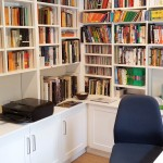 White Painted Bookcases