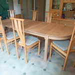 The table was designed to compliment these lovely Ercol chairs