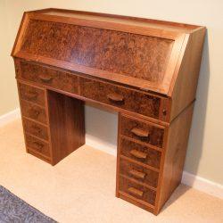 Secretaire desk in American Black Walnut